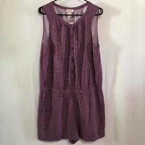 NWT Ann Taylor Loft Purple Romper Short Outfit